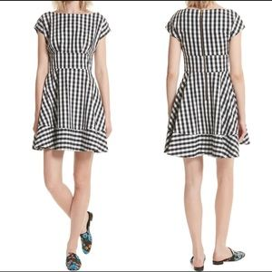 Kate Spade gingham fit & flare dress size 4